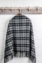 Load image into Gallery viewer, Plaid Wool Poncho