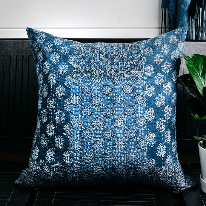 Kantha Quilt Patchwork Pillow