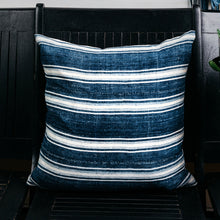 Load image into Gallery viewer, Indigo Stripe Pillow