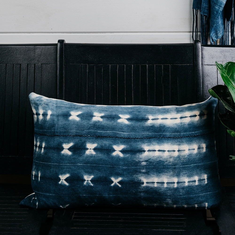 Shibori Mud Cloth Pillow Cover (Sold Out)