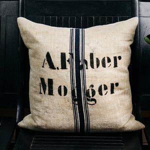 German Grain Sack Pillow Cover
