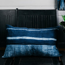 Load image into Gallery viewer, Indigo Shibori Lounge Pillow(Sold Out)