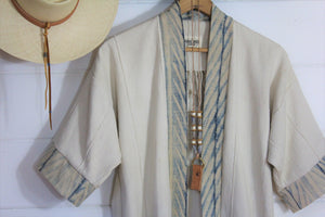 Natural + Shibori Haori Jacket