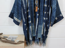Load image into Gallery viewer, Indigo Shibori Duster Jacket(Sold Out)