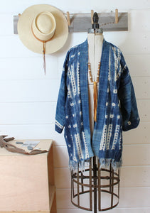 Indigo Shibori Duster Jacket(Sold Out)