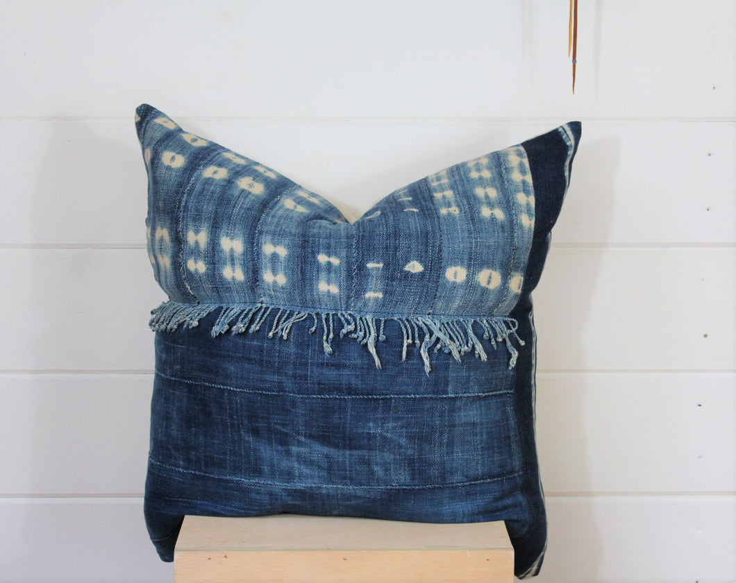 Indigo Patchwork Lounge Pillow