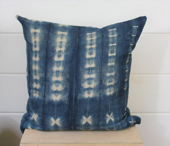 Indigo Shibori Pillow