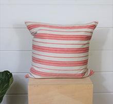 Load image into Gallery viewer, Coral Ticking Pillow