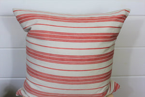 Coral Ticking Pillow