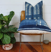 Load image into Gallery viewer, Indigo Patchwork Lounge Pillow