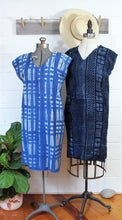 Load image into Gallery viewer, Indigo Shibori Dress