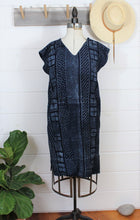 Load image into Gallery viewer, Indigo Mud Cloth Dress