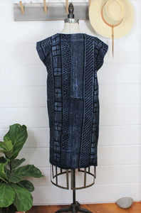 Indigo Mud Cloth Dress