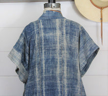 Load image into Gallery viewer, Indigo Shibori Duster Vest