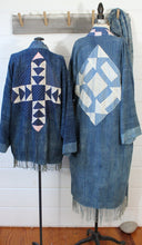 Load image into Gallery viewer, Indigo Quilt Back Duster Jacket