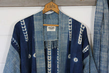 Load image into Gallery viewer, Indigo Shibori Haori Jacket