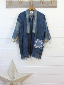 Indigo Quilt Patch Jacket