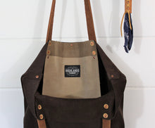 Load image into Gallery viewer, Brown Cowhide Leather Tote