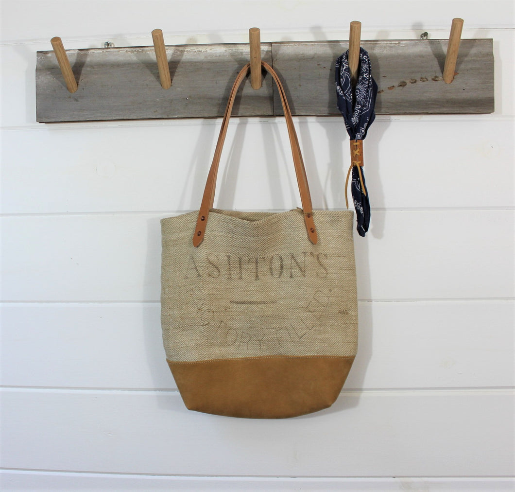English Grain Sack Tote