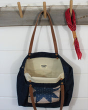 Load image into Gallery viewer, Denim Quilt Patch Tote