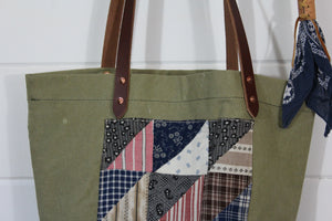 Military Quilt Patch Tote