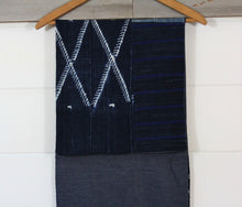 Load image into Gallery viewer, Indigo Shibori Patchwork Scarve