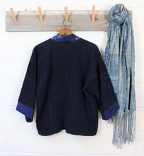 Load image into Gallery viewer, Indigo + Chinese Batik Jacket