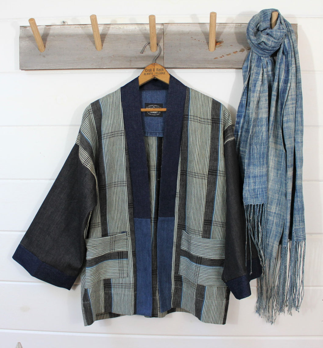 Indigo + Denim Haori Jacket