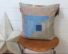 Load image into Gallery viewer, Natural Dyed Patchwork Pillow