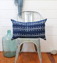 Load image into Gallery viewer, Indigo Shibori Lounge Pillow