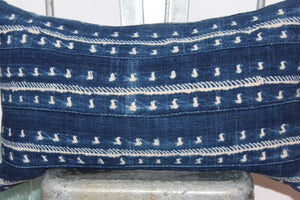 Indigo Shibori Lounge Pillow