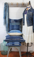 Load image into Gallery viewer, Indigo Shibori Pillow Cover