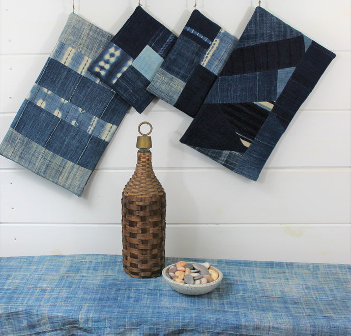 Inidgo Patchwork Trivets
