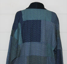 Load image into Gallery viewer, Indigo Patchwork Kantha Quilt Jacket