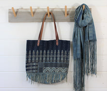 Load image into Gallery viewer, Kantha Quilt Fringe Tote