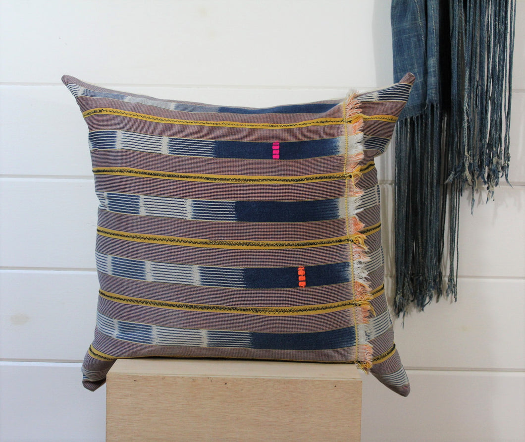 Indigo Ikat Lounge Pillow