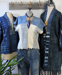 Handwoven Indigo Top