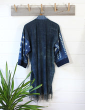 Load image into Gallery viewer, Indigo Shibori Duster