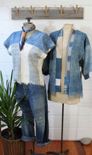 Load image into Gallery viewer, Handwoven Indigo Top