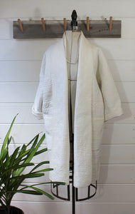 White Quilt Duster Jacket/for Colette