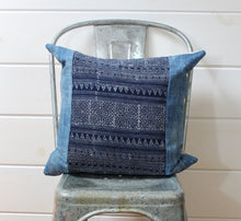 Load image into Gallery viewer, Indigo Ikat Pillow