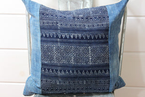 Indigo Ikat Pillow