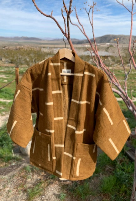 Mud Cloth Haori Jacket