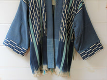 Load image into Gallery viewer, Indigo Ikat Haori Jacket