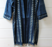 Load image into Gallery viewer, Indigo Shibori Duster Jacket