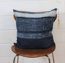 Load image into Gallery viewer, Indigo Batik Pillow