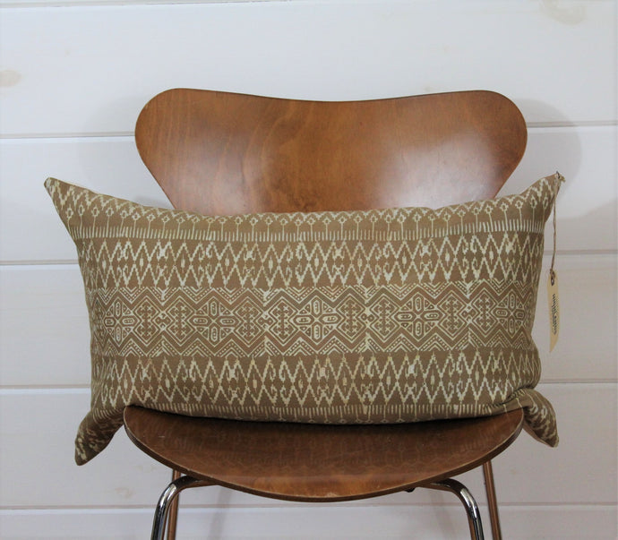 Tan Batik Lounge Pillow