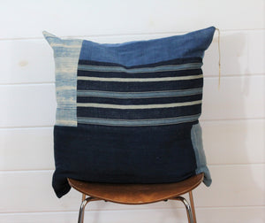 Indigo Patchwork Jumbo Lounge Pillow