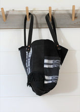 Load image into Gallery viewer, Black Kente Patchwork Tote