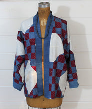Load image into Gallery viewer, Indigo Calico Quilt jacket